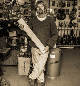 Russ Mattsen in his Guitar Building Workshop